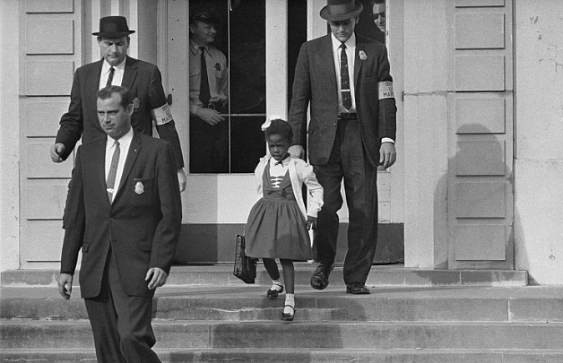 1960's Civil Rights History-A little girl, Ruby Bridges, had to be escorted by federal Marshals to school