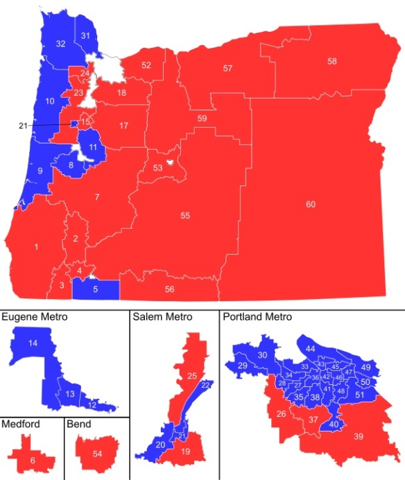 Oregon Political Map By County.The Many Faces Of Oregon Certified Realty